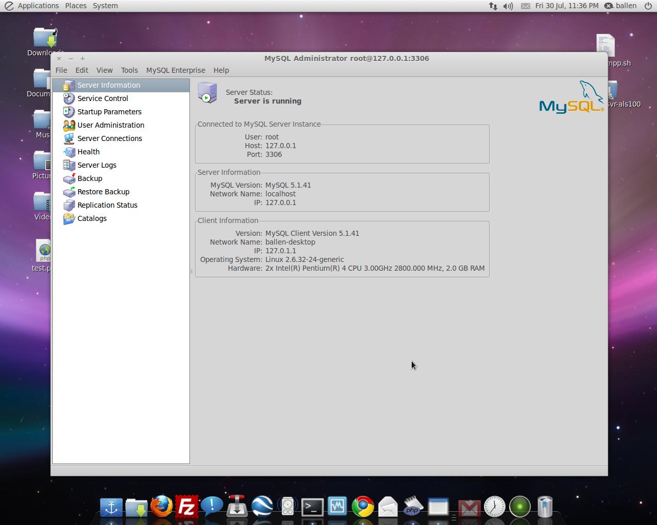 Mysql admin - A Screenshot Here Too