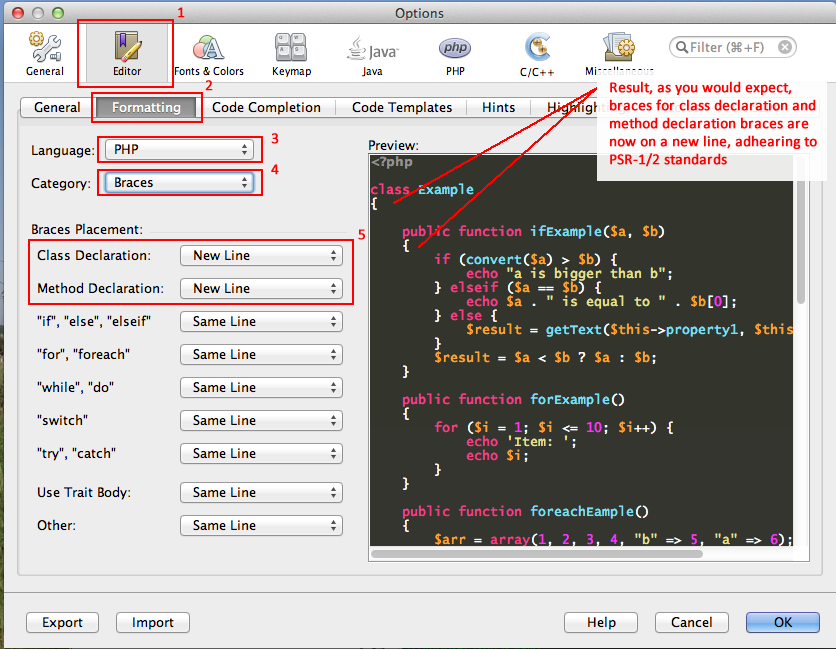 Configuring NetBeans for PSR-1 and PSR-2 coding guidelines  – Life