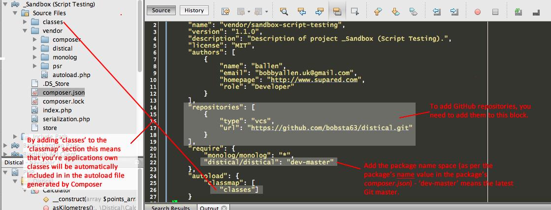 php json config file