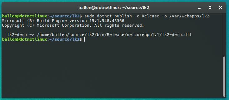 Deploying and hosting ASP NET Core applications on Ubuntu
